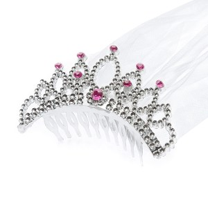 Sølvfarvet tiara