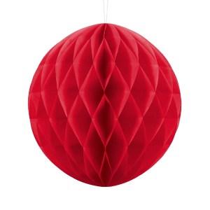 Rød papirkugle