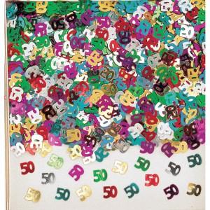 50 år bordkonfetti