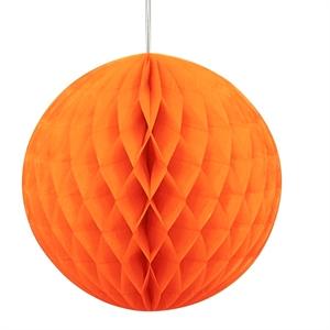 Orange papirkugle