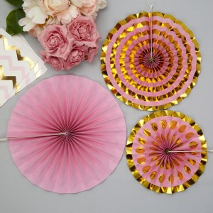 Luksus pink dekorationsrosetter