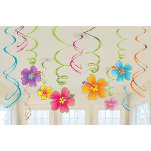 Hibiscus Blomster loftsdekoration