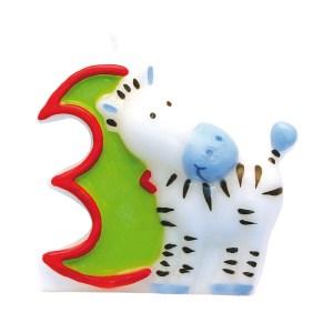 Fødselsdagslys med zebra