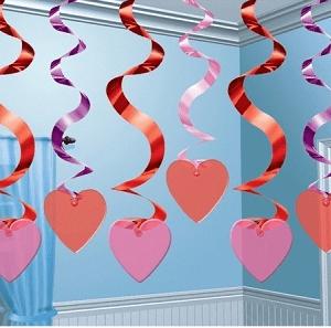 Swirls med hjerter