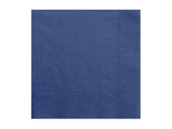 Navy blue servietter