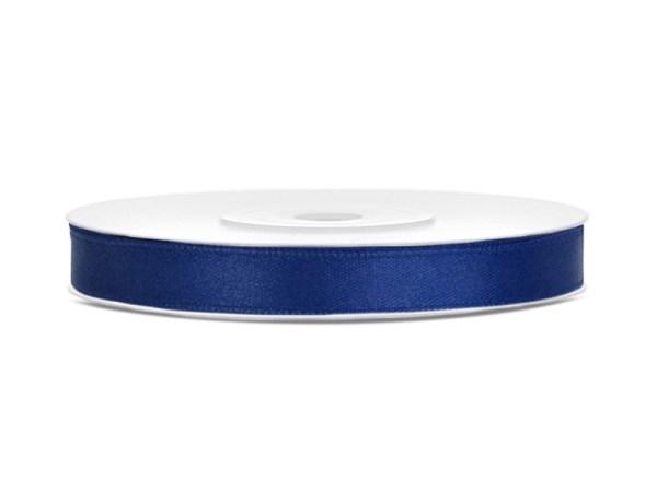 Navy blue satin bånd
