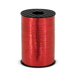 Rød metallisk gavebånd