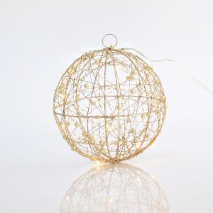 Bola con Glitter LED Ø20cm