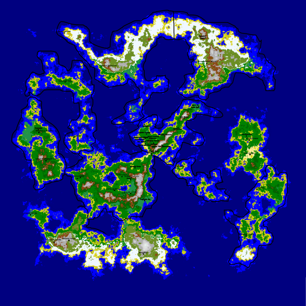 Luminari World Map, Update April 14 2020