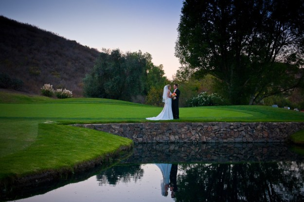 Beautiful lake wedding image at Sunset Hills Country Club