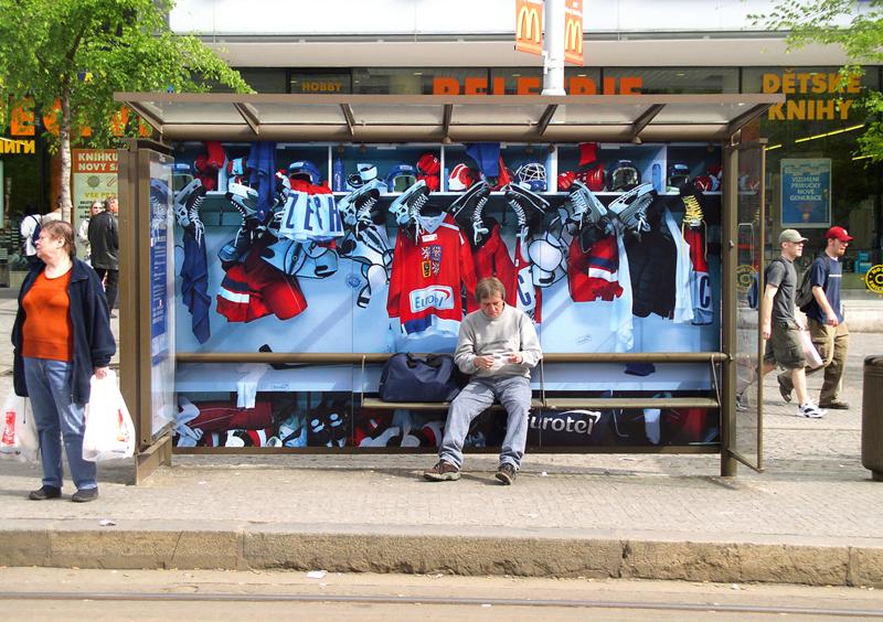 Eurotel – hokejová šatna na zastávce