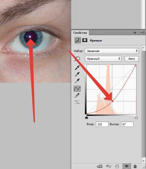 как убрать эффект фотовспышки на глазах владелец дачи или