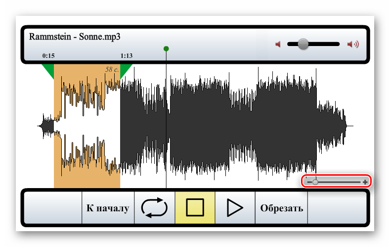 Audiorez web sitesinde görselleştirme grubunu ölçeklendirmek için düğmeler
