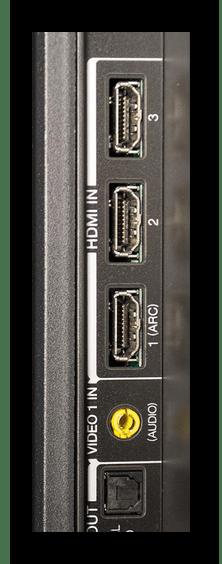 Теледидардағы HDMI қосқыштарының мысалы