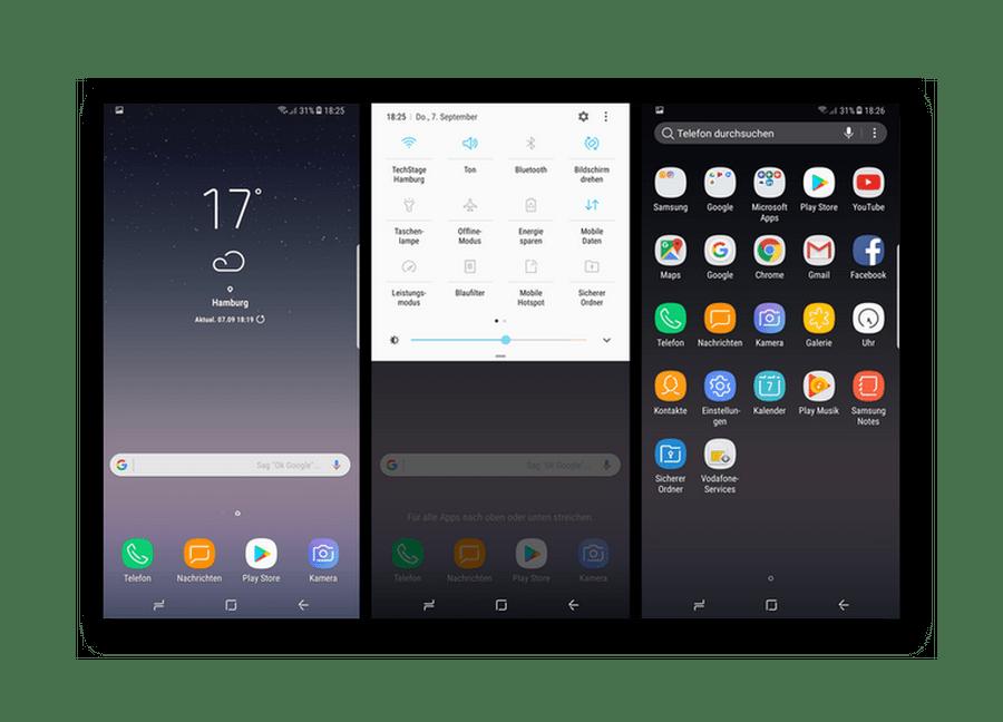 Samsung galaxy arabirimi android dayalı