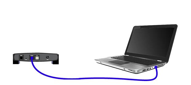 Ви-фильді конфигурациялау үшін маршрутизаторды LAN кабелі арқылы қосу