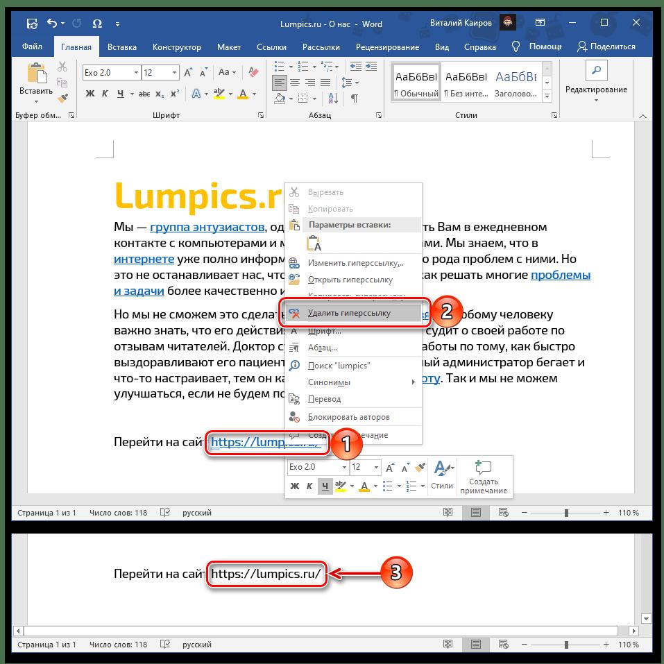 Ang pagtanggal ng resulta ng address mula sa sanggunian sa Microsoft Word