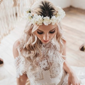 Ebony Wedding Flower Crown Hydrangea Headband