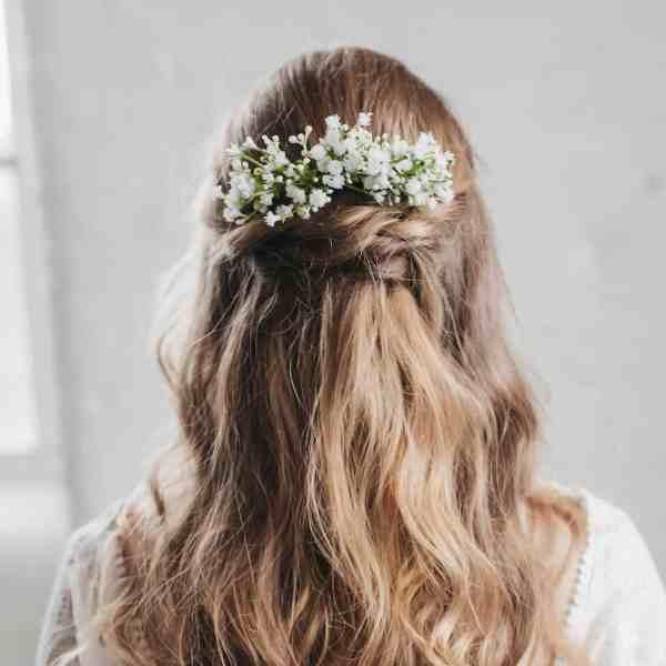 Eva gypsophila wedding hair comb