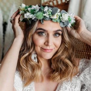 Matilda Flower crown wedding hair