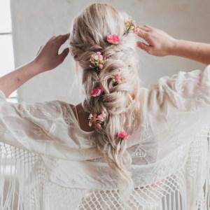Harriet Pink Gypsophila And Wild Rose Hair Pins
