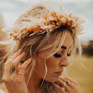 Athena Dried Flower Crown Wedding Headband