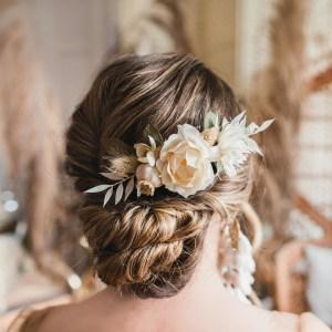 Melody Dried Flower Wedding Bridal Hair Comb