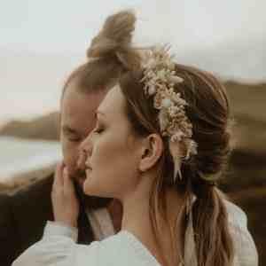 Harper Dried Flower Crown Wedding Headband