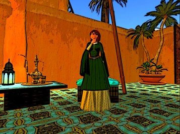Red hair in Oasis of Four Palms