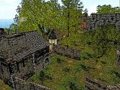 Birds eye view of the village