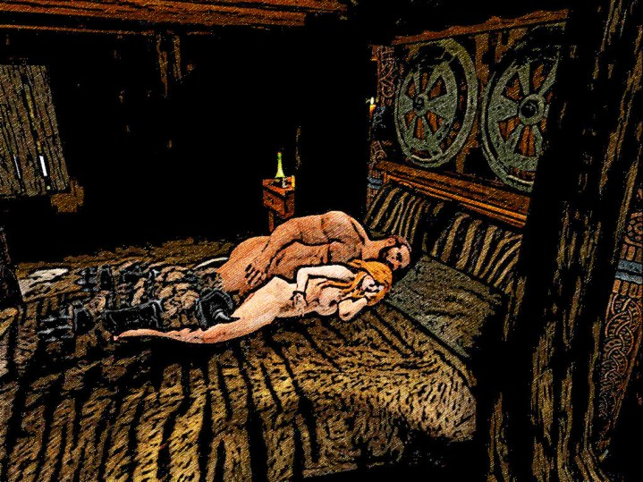 A 'real' gorean man sleeps with his boots on !