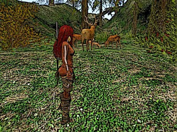 In the Woods she unslings her bow