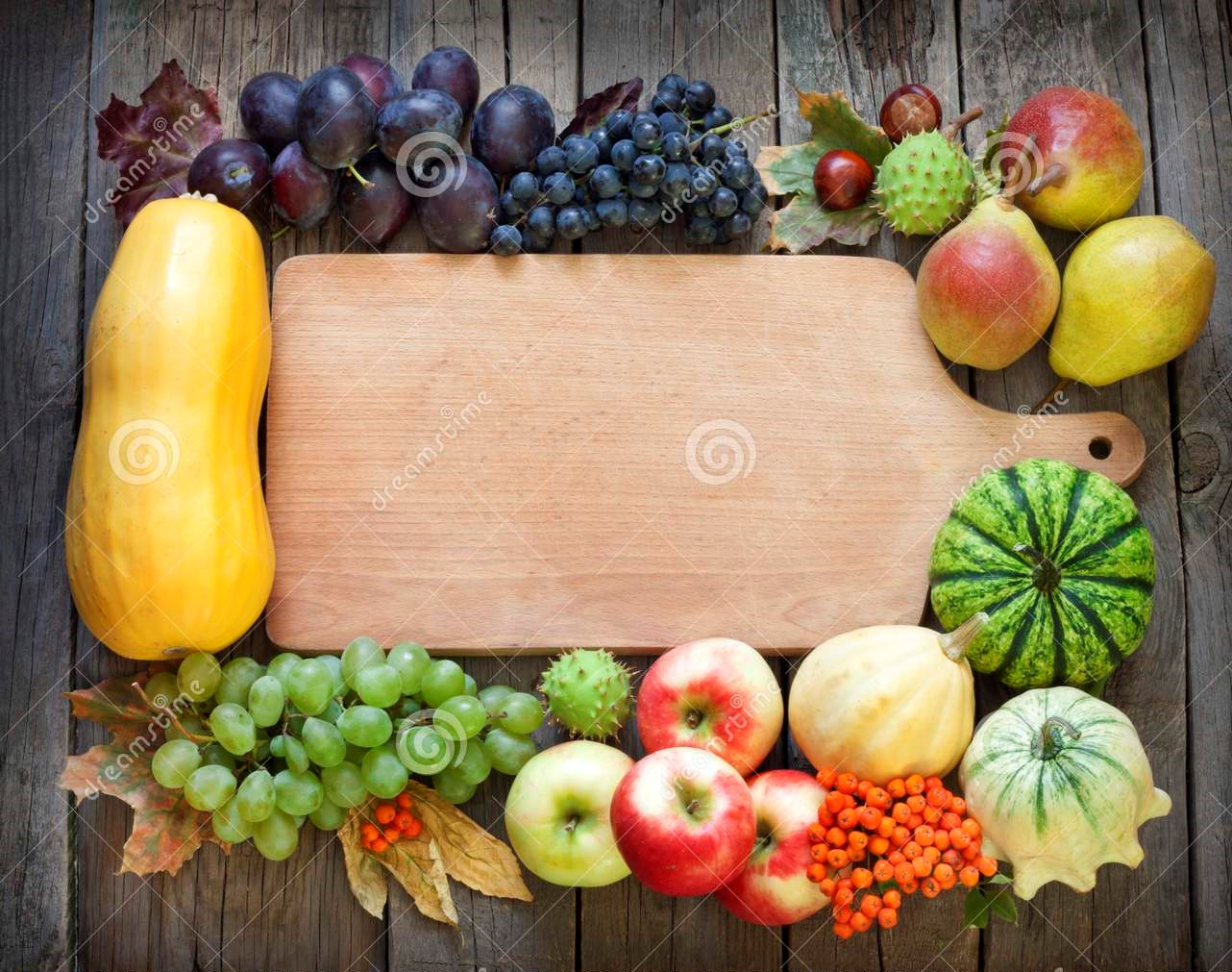 autumn-fruits-vegetables-empty-cutting-board-background-33494785