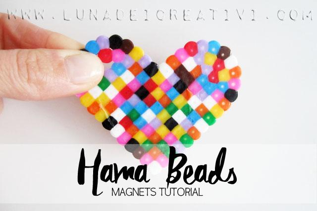 Perline Pyssla Hama Beads Magnets Tutorial Lunadei Creativi