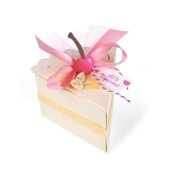 scatola fetta di torta big shot pro
