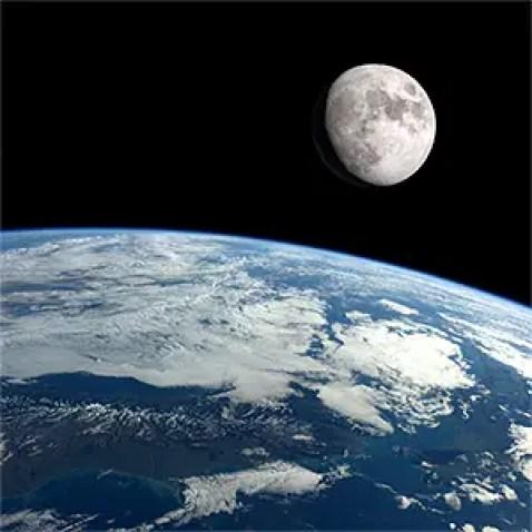 Resultado de imagen para moon from earth