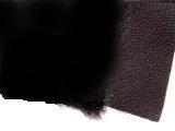 ムートンメリノ生地:表革黒