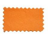 レザー生地サンプル:エルメスオレンジ