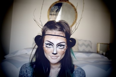 Makeup can be the easiest mask. This looks doable, and you probably have all the materials already. You and a friend can also go as this together, that way you can drink some red wine beforehand and not have to do your own makeup.