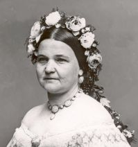 Mary Todd Lincoln, with florals.
