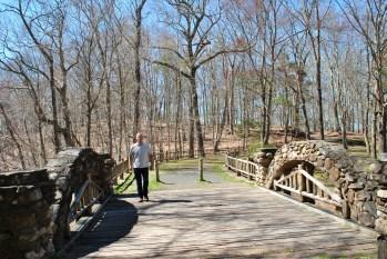 Gillette castle pond bridge and mike