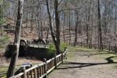 Gillette castle pond bridge path