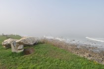 Narragansett foggy shore benches