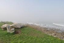 Narragansett foggy shore benches
