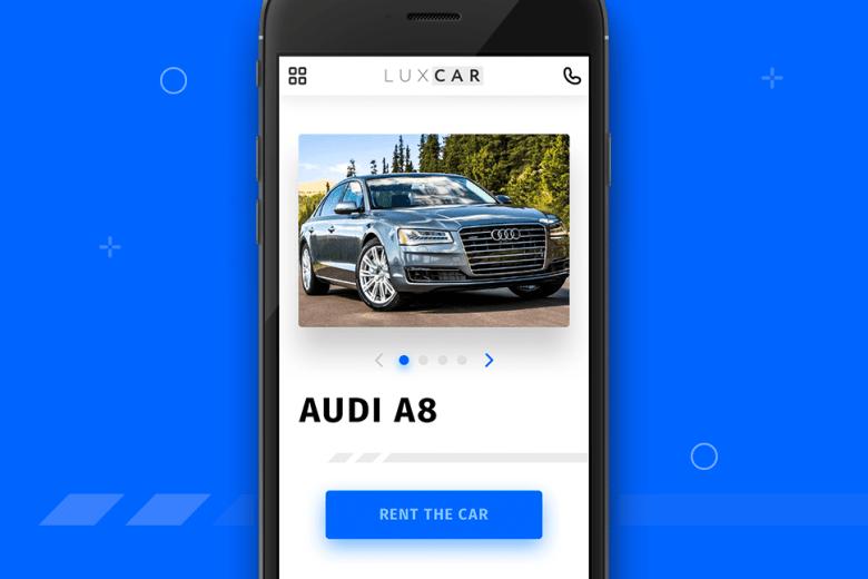 Car Rental Website Mobile View