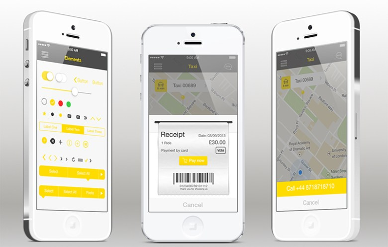Application for taxi services