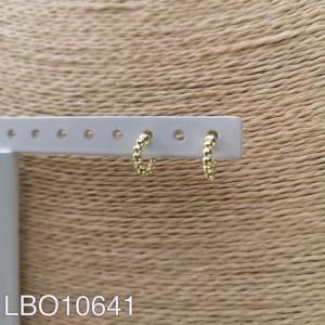 Aros bañados en oro de 10mm LBO10641