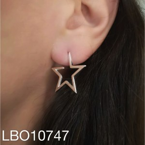 Aros bañado en plata Estrella Perfil LBO10747