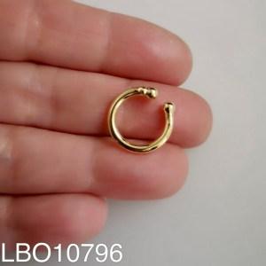 Aros bañado en oro Piercing falso Argolla 1 unidad de 15mm LBO10796