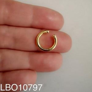 Aros bañado en oro Piercing falso Argolla 1 unidad de 13mm LBO10797